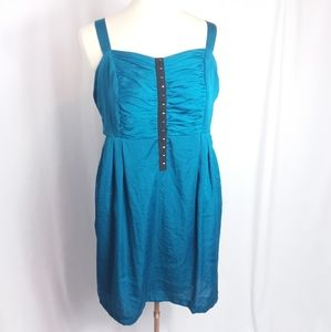Z. Cavaricci Party Dress Teal Blue Sleeveless